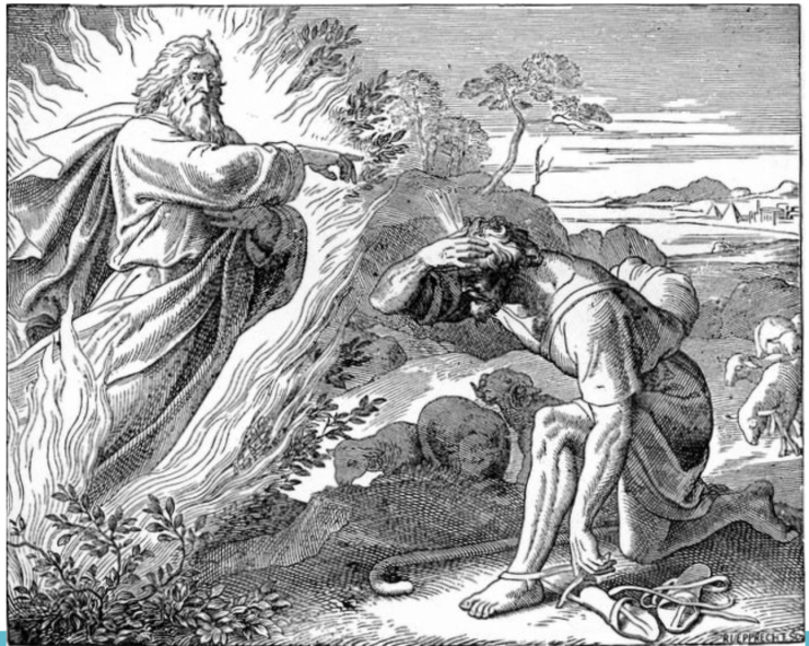 Moses and Who is in the Bush